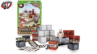 Minecraft: Overworld Minecart Pack Papercraft Toy Review, Jazwares