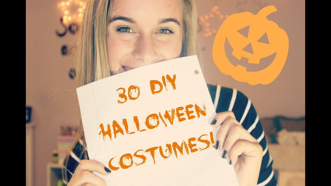 30 EASY DIY HALLOWEEN COSTUME IDEAS!   YouTube