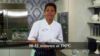 Monica Galetti films LIberte Yogurt banana loaf recipe at PediniLondon Showroom