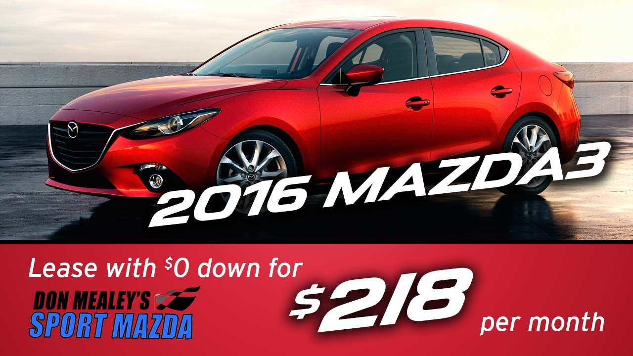 New 2016 Mazda3 Leasing And Finance Specials At Sport Mazda Orlando | April  2016