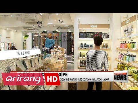 Korea's exports of cosmetics to Europe rising sharply