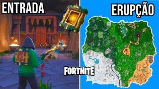 The SECRET ENTRANCE to Fortnite and the ERUPTING volcano?