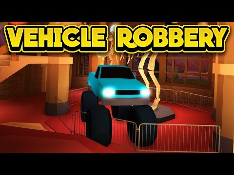 ROBBING THE MUSEUM WITH A CAR! (ROBLOX Jailbreak)