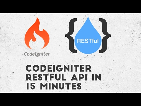 Codeigniter Restful API in 15 minutes, Codeigniter 3.0 REST API Tutorial
