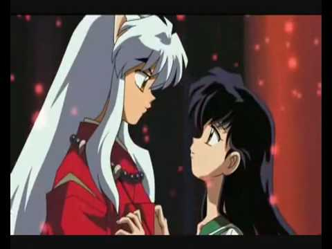 Inuyasha and Kagome / First kiss / Kiss Scene from Movie 2 ...