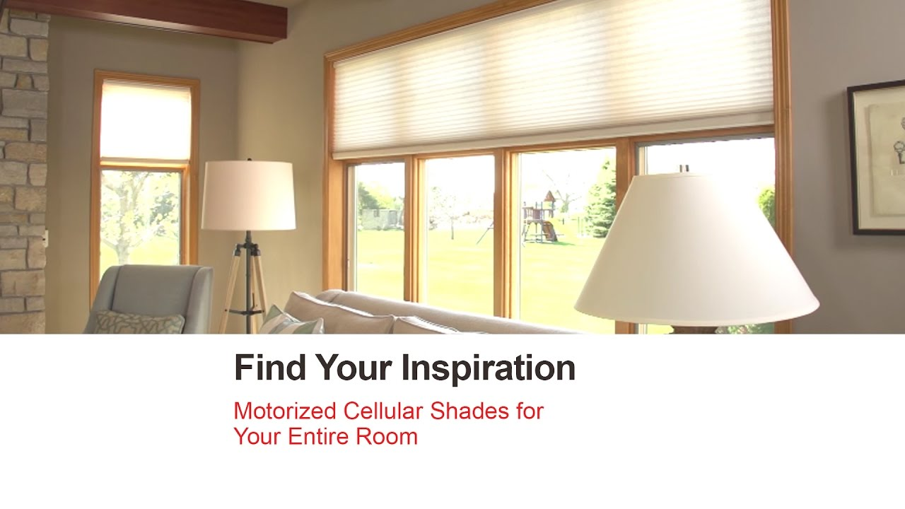 Bali blinds motorized cellular shades for your entire for How to install motorized blinds