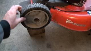 LAWNMOWER WHEEL Stopped Turning. FIXED! Self Propelled FRONT DRIVE WHEELS won't work