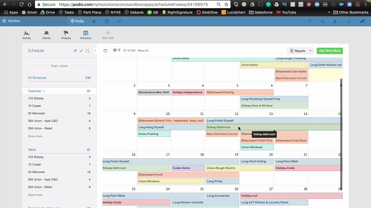 podio for project management globiflow calendar colors youtube