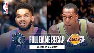 Full Game Recap: Timberwolves vs. Lakers | Rajon Rondo Returns For LAL