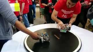 MSOE SumoBot pool round with Grace