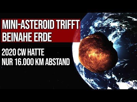Mini-Asteroid trifft beinahe Erde - Abstand nur 16.000 km