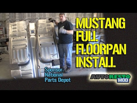 How To Full Floor Pan Install 1967 1968 Mustang Tips Tricks  Episode 195 Autorestomod