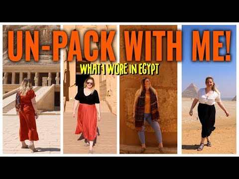 UN PACK WITH ME | What to Wear in Egypt | Travel Talk Tours | Natasha Atlas