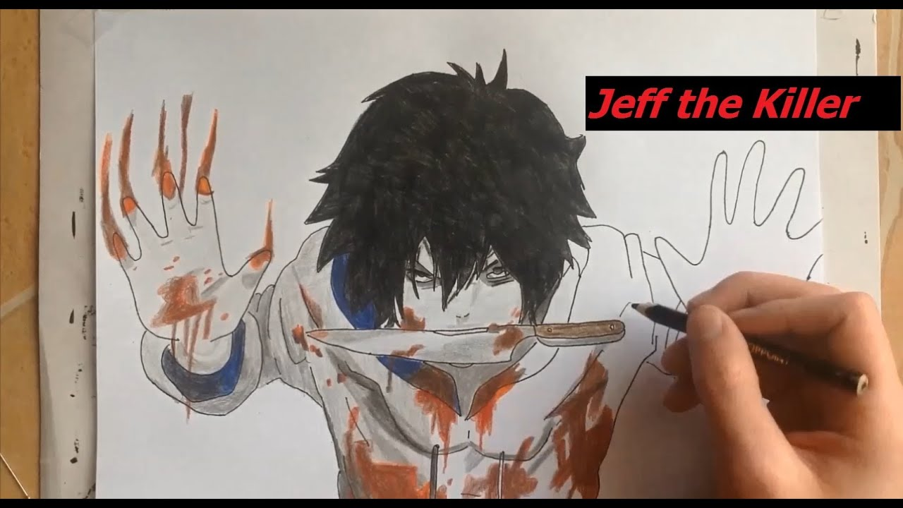 drawing jeff the killer youtube