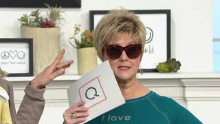 Peace Love World Reflective Soho Sunglasses on QVC
