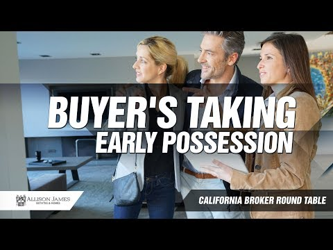 Buyer's Taking Early Possession for REALTORS®