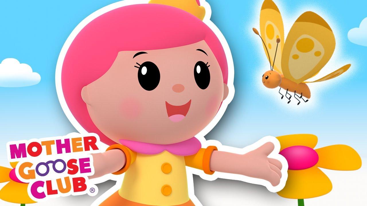 Butterfly | Mother Goose Club Cartoons #NurseryRhymes