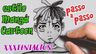 Como desenhar XXXTENTACION estilo CARTOON/MANGÁ - passo a passo