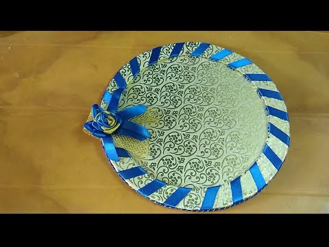 Decorative Tray Makingwedding Tray Decorationss Krafts24 Youtube