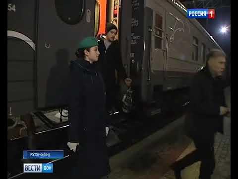 Студенты РГУПС - проводники на первом поезде в Крым