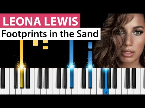 Leona Lewis - Footprints in the Sand - Piano Tutorial
