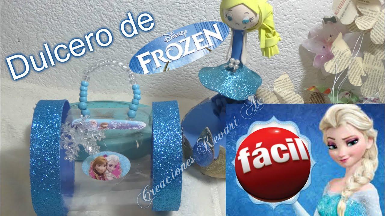 dulcero de elsa de frozen material reciclado botellas plasticas youtube