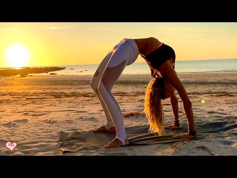 Yoga Workout For Your Waistline ♥  Beautiful Sunset Core Toning   Tip Of Borneo