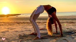 Yoga Workout For Your Waistline   Beautiful Sunset Core Toning | Tip Of Borneo