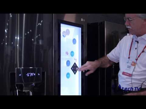 LG Smart Fridge at CES 2017