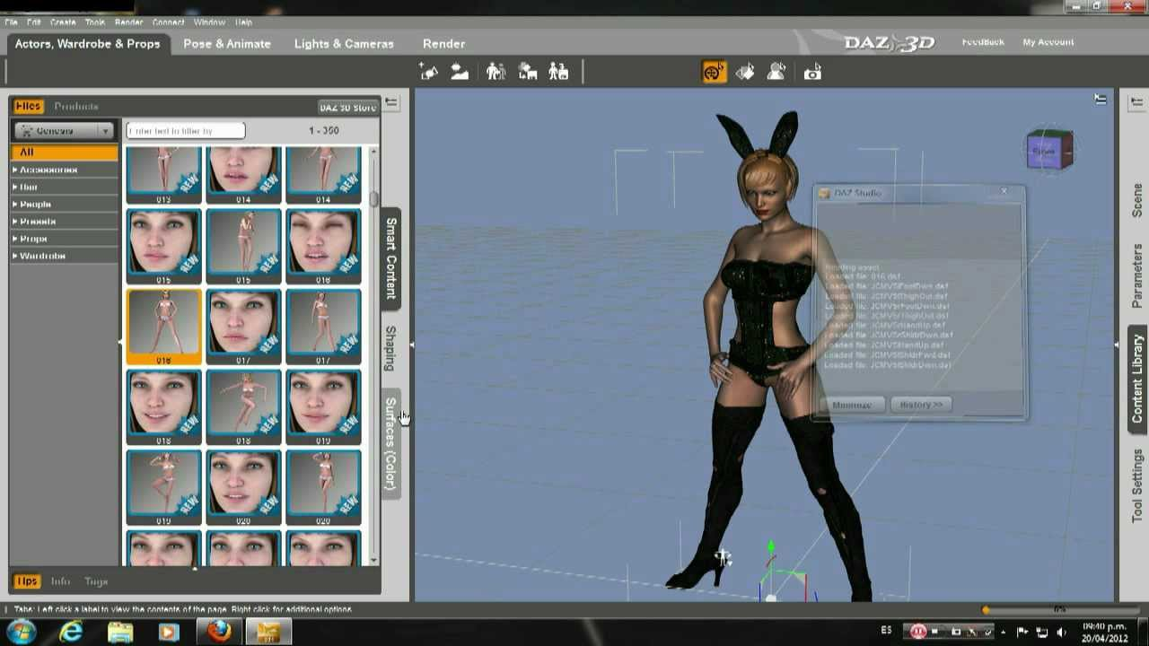 Daz studio 4 victoria 5 tutorial youtube.