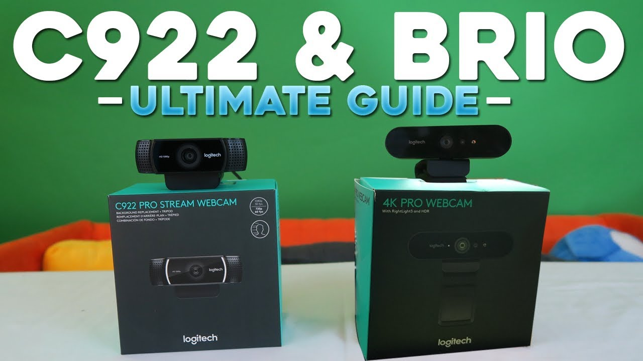 8419600ffa5 Logitech C922 & BRIO Ultimate Guide (Setup, Quality, Green Screen,  Lighting, & Troubleshooting)