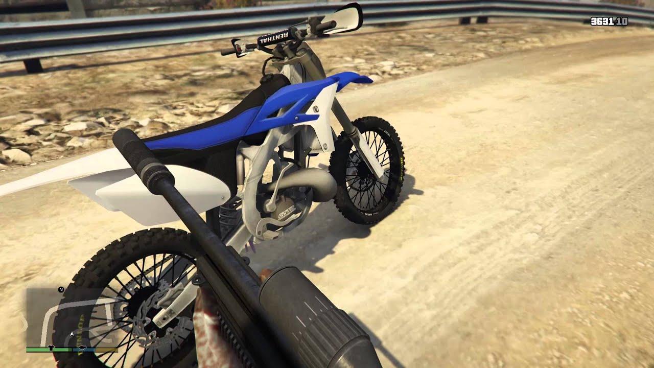 Grand Theft Auto 5 Yamaha Yz 250 Dirtbike Mod Gta 5 Youtube