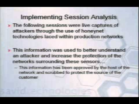 DEF CON 15 - Sean Bodmer - Analyzing Intrusions and Intruders