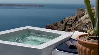 Dive in your plunge pool at your suite at Esperas Santorini Hotel