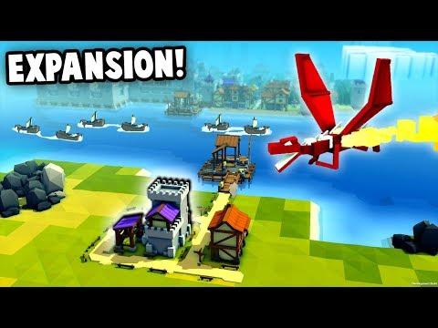 Huge KINGDOM EXPANSION!  Building a bigger NAVY! (Kingdoms and Castles New Update Gameplay)