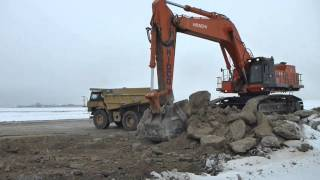 Big Ass Rocks... | Hitachi EX1200 loading boulders