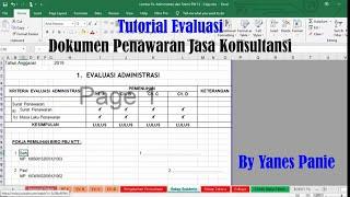 Tutorial Evaluasi Penawaran Konsultan Kualitas Dan Biaya Dua File