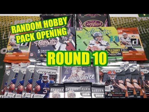 Random Football Card Hobby Pack Opening Round 10. Hits For Days!