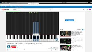 Main Theme   Fallout 3 Piano Tutorial Synthesia    Lucas King   YouTube   Internet Explorer 2019 02