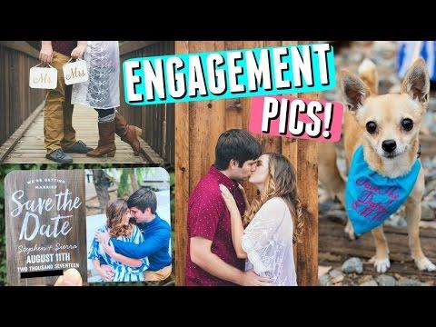 ENGAGEMENT PHOTO SHOOT TIPS + SAVE THE DATE WEDDING INVITATION IDEAS! || Wedding Planning Series