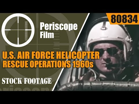 U.S. AIR FORCE HELICOPTER RESCUE OPERATIONS 1960s TRAINING FILM 80834