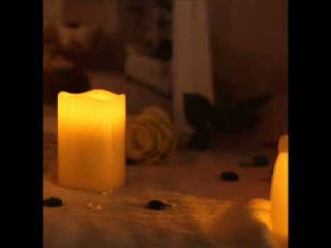 Smooth Flameless Real Wax Pilliar Led Candle With Timer ; battery operated led candles