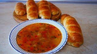 Вкуснейшие МИНИ БАТОНЫ и овощной суп с фасолью и помидорами Выпечка и кулинария