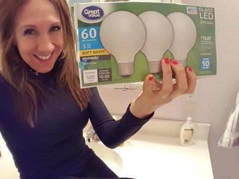 LED Vanity Light Bulbs In The Master Bathroom | Great Value Brand Part 1