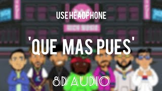 Download Que Mas Pues (Remix)8D || Sech ft. Justin Quiles x Maluma x Nicky Jam x Farruko || Echo sound Mp3 and Videos