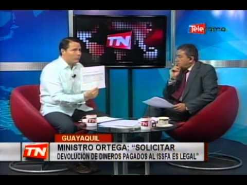 Ministro Ortega: Solicitar devolución de dineros pagados al ISSFA es legal