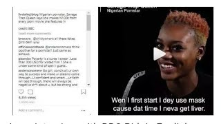 Nigerian pornstar, Savage Trap Queen says she makes N100k from every porn movie she act