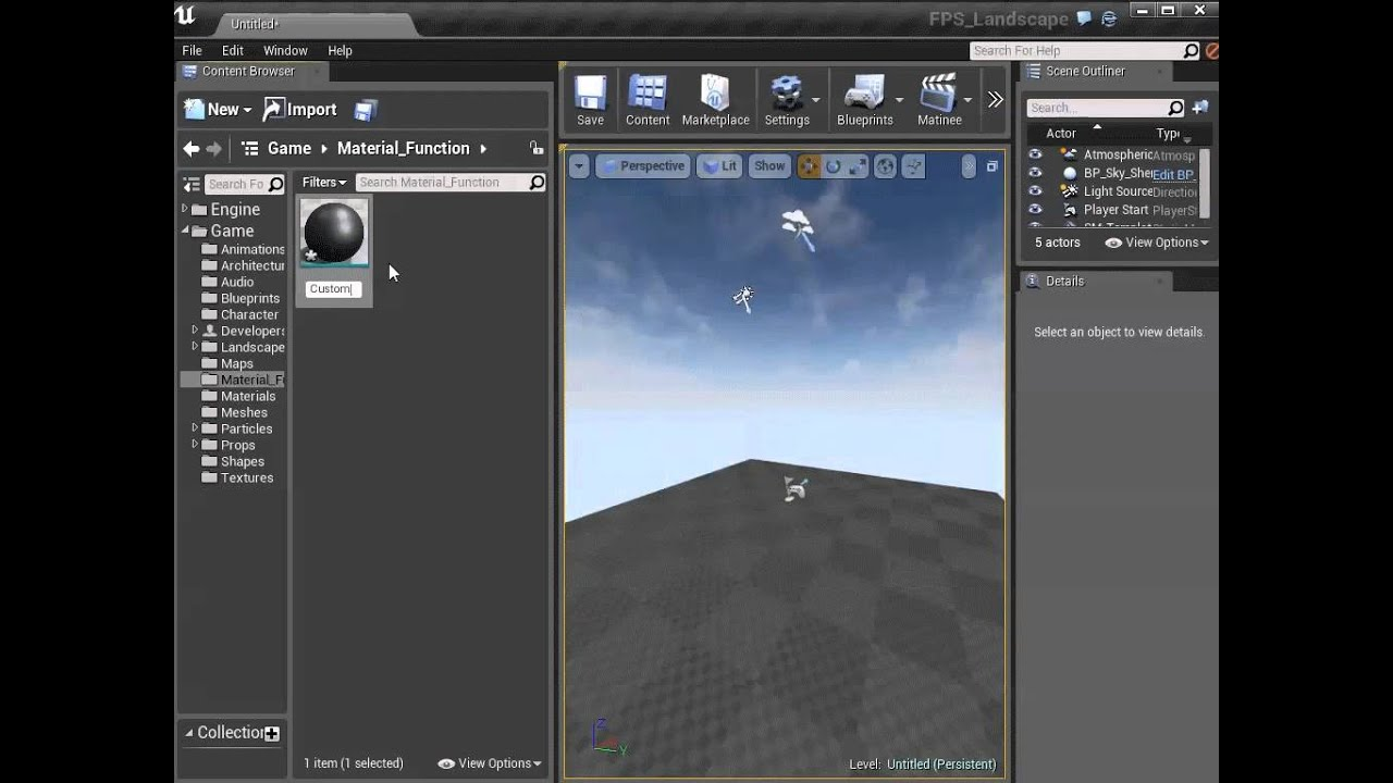 Creating Material Functions | Unreal Engine Documentation