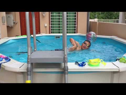 how to swim in a 3 meters wide pool