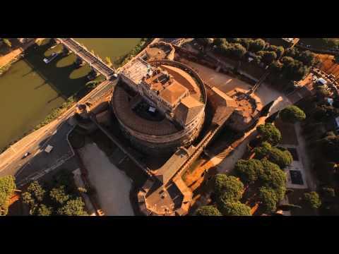 Rome Castel sant'Angelo drone view